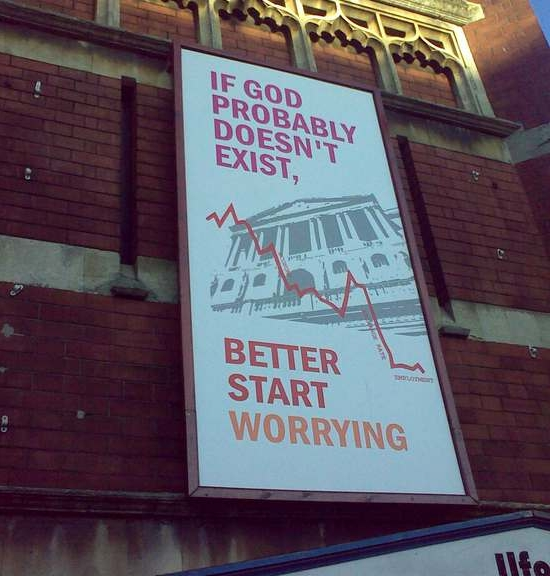 Ilford High Road Baptist Church of London's answer to the Atheist Bus ads and commentary on our collective economic predicament.