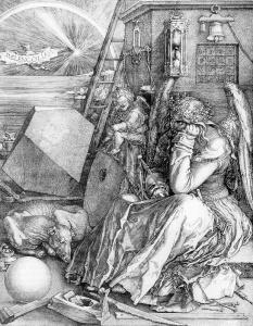"German artist Albrecht Durer's engraving ""Melancholia"" (1514)"