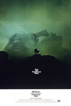 "Original poster for the 1968 film ""Rosmary's Baby,"" directed by Roman Polanski"