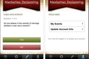 Manhattan Declaration iPhone/iPad app